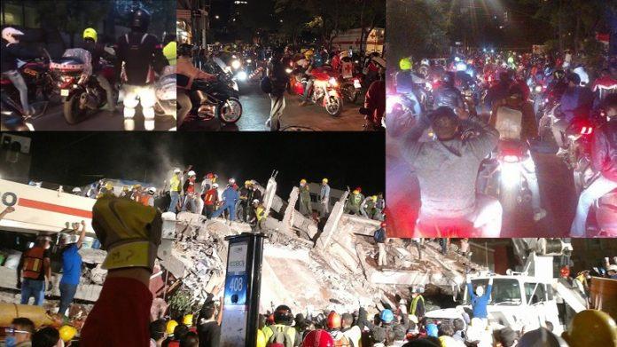 Motociclistas-en-Terremoto-2017-CDMX